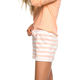 Roxy Trippin Short Femme, salmon 2x2 stripe